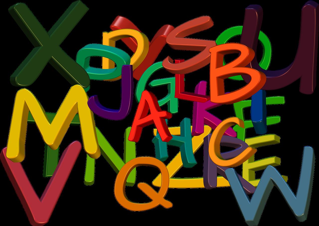 lettere colorate